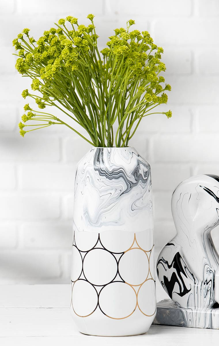 Marbled Ceramic Vase