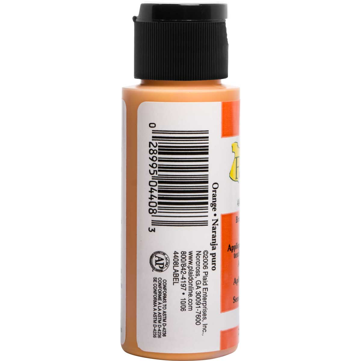 FolkArt ® Fabric™ Paint - Brush On - Pure Orange