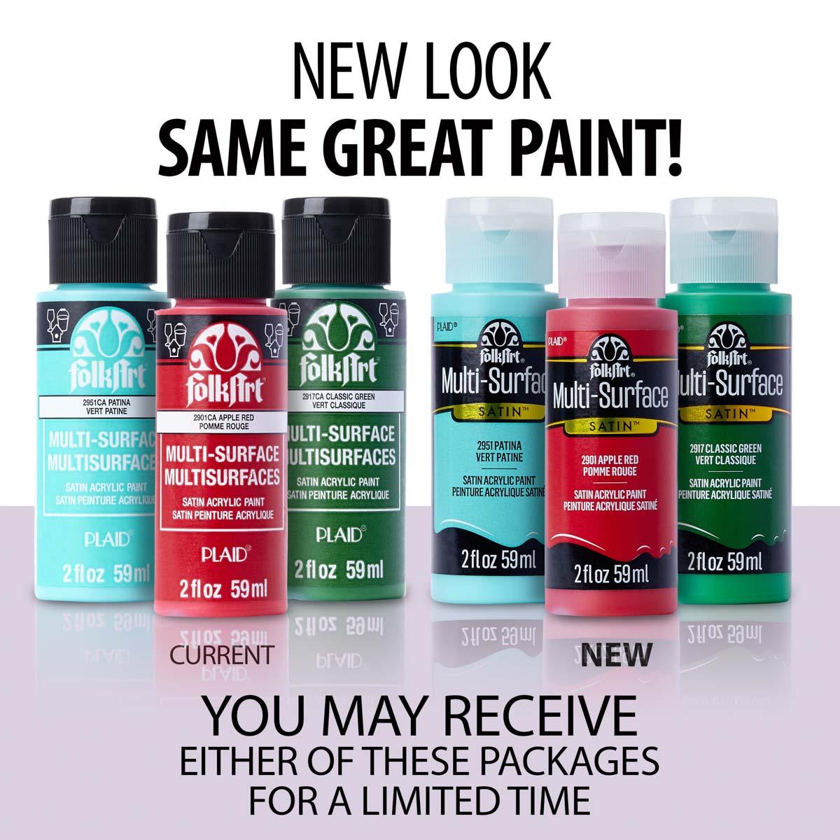 FolkArt ® Multi-Surface Satin Acrylic Paints - Soft Apple, 2 oz. - 2949