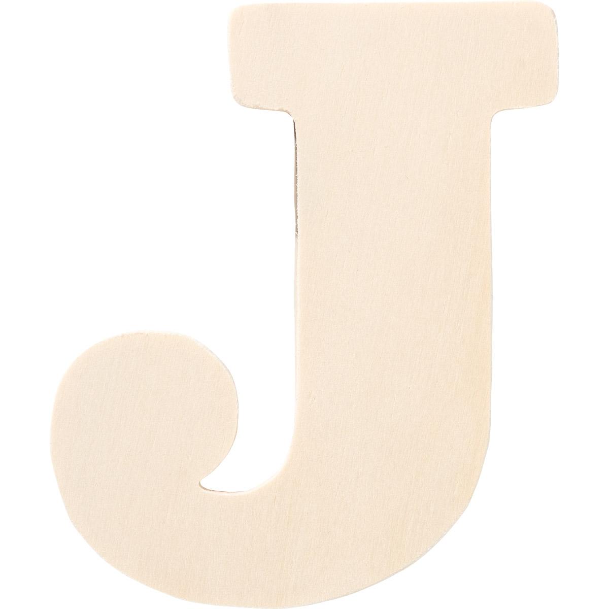 Plaid ® Painter's Palette™ Wood Letter - J. 4 inch