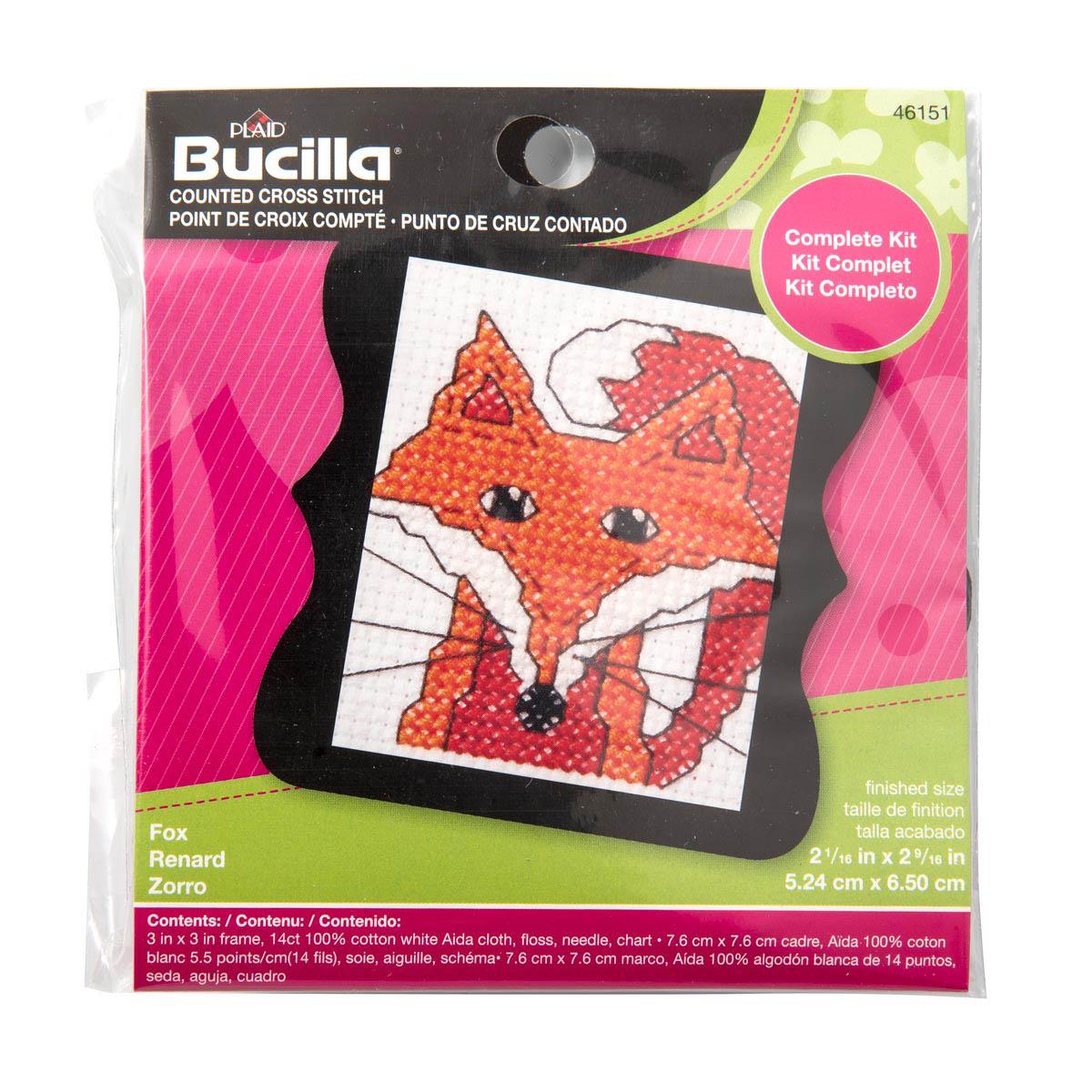 Bucilla ® Counted Cross Stitch - Beginner Stitchery - Mini - Fox
