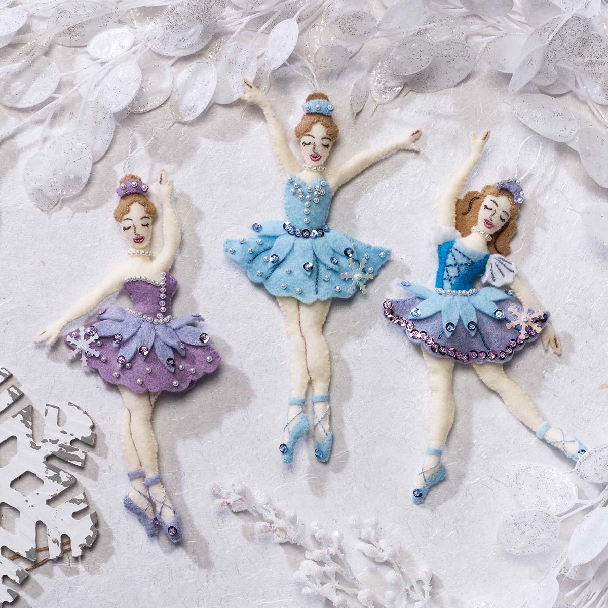 Bucilla ® Seasonal - Felt - Ornament Kits - Snowflake Ballerina - 89390E