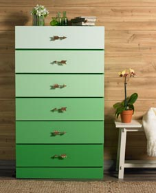 DIY Gradient Chest of Drawers