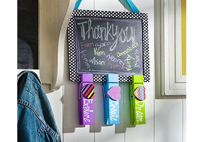 Chalkboard and Teacher Clips