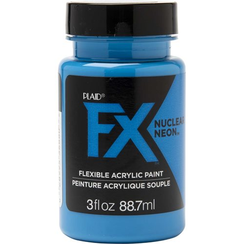 PlaidFX Nuclear Neon Flexible Acrylic Paint - Nitro Blue, 3 oz. - 36880