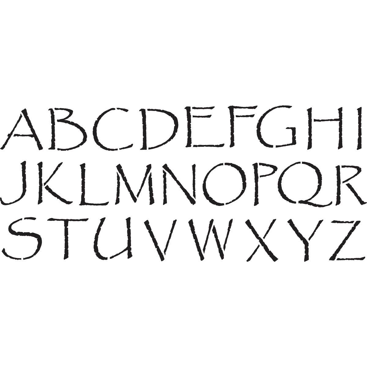 Delta Stencils - Alphabet - Papyrus, 2