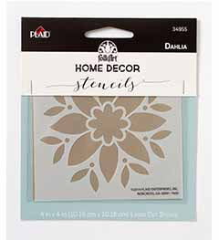 FolkArt ® Home Decor™ Stencils - Dahlia - 34955
