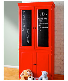 Chalkboard Paint Cabinet Doors