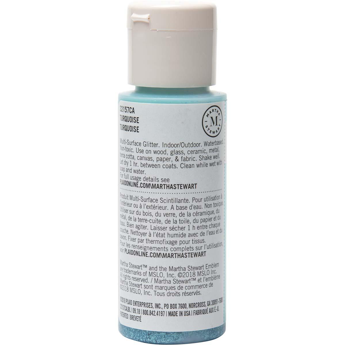 Martha Stewart® 2oz Multi-Surface Glitter Acrylic Craft Paint - Turquoise