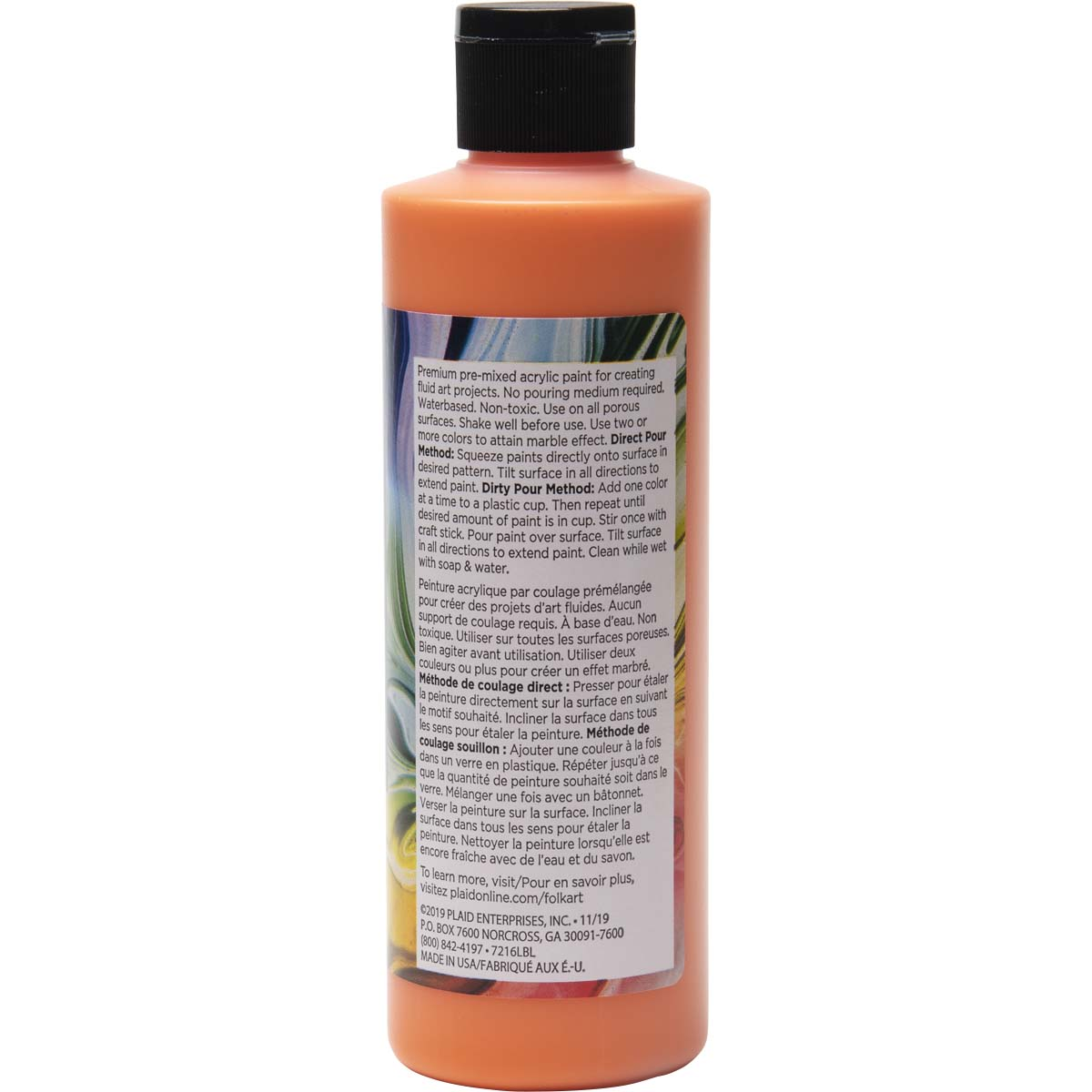 FolkArt ® Pre-mixed Pouring Paint - Orange, 8 oz. - 7216