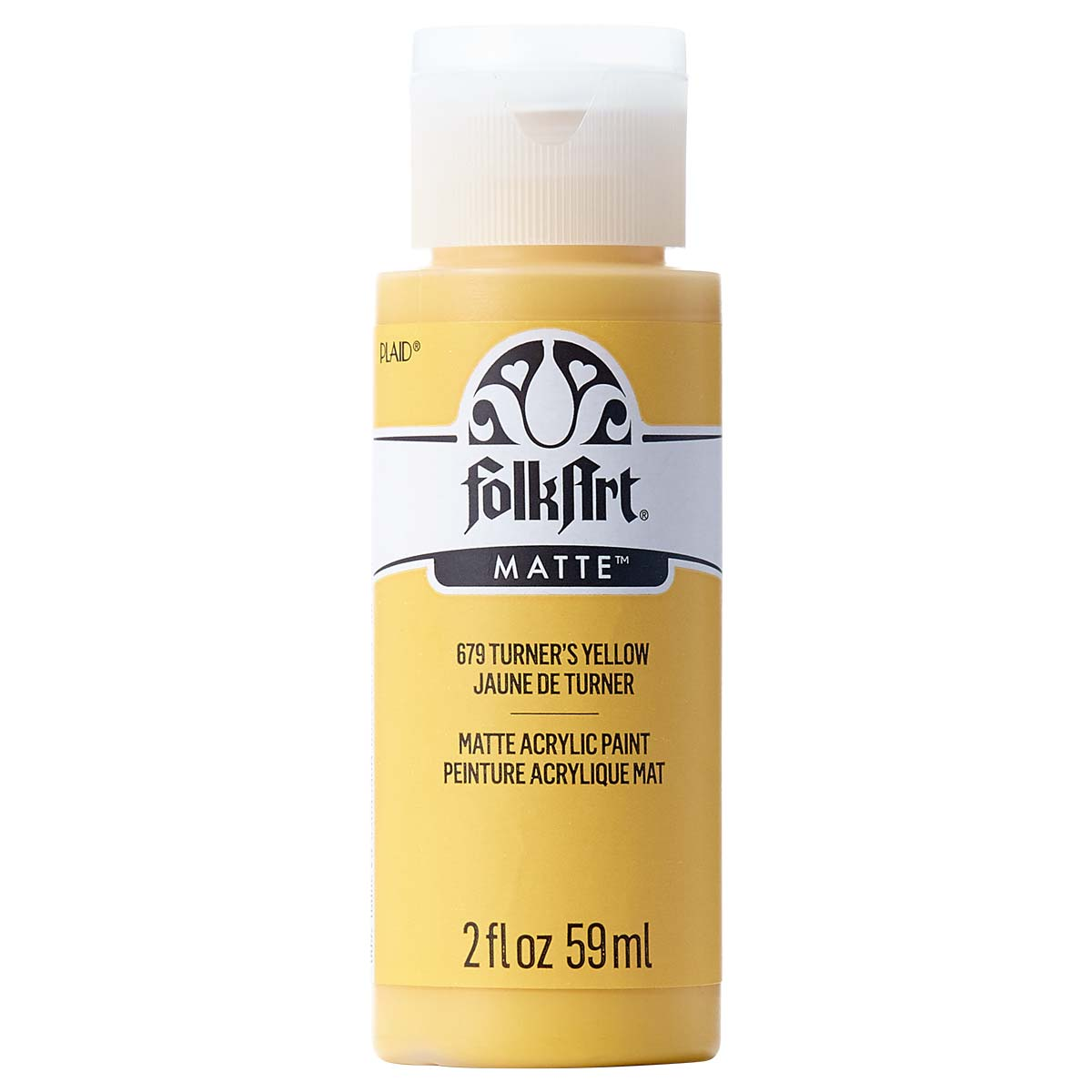 FolkArt ® Acrylic Colors - Turner's Yellow, 2 oz. - 679
