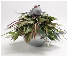 Peridot Partridge Ornament