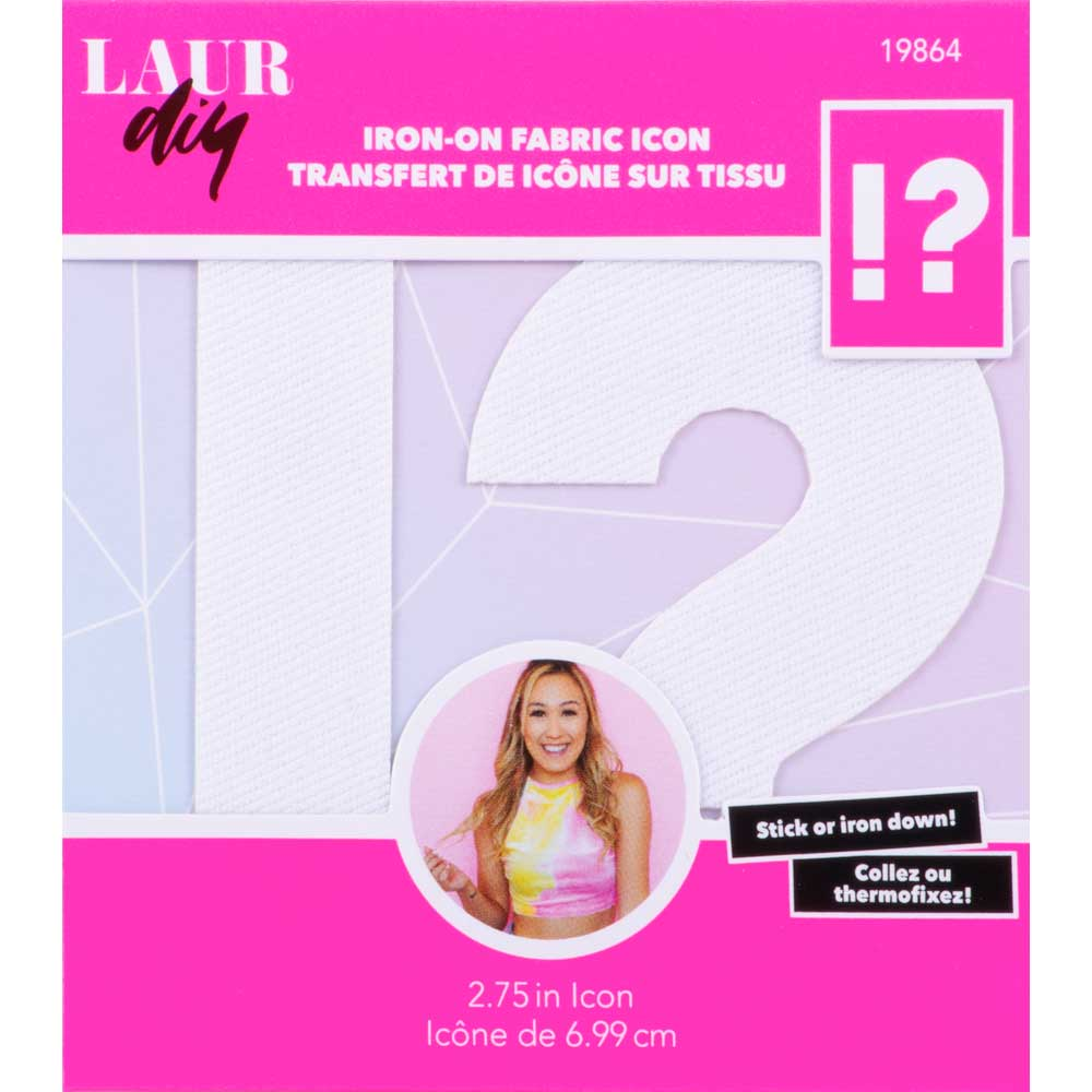 LaurDIY ® Iron-on Fabric Letters - ! ?