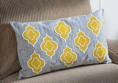 Appliquéd Pillow with Fabric Mod Podge
