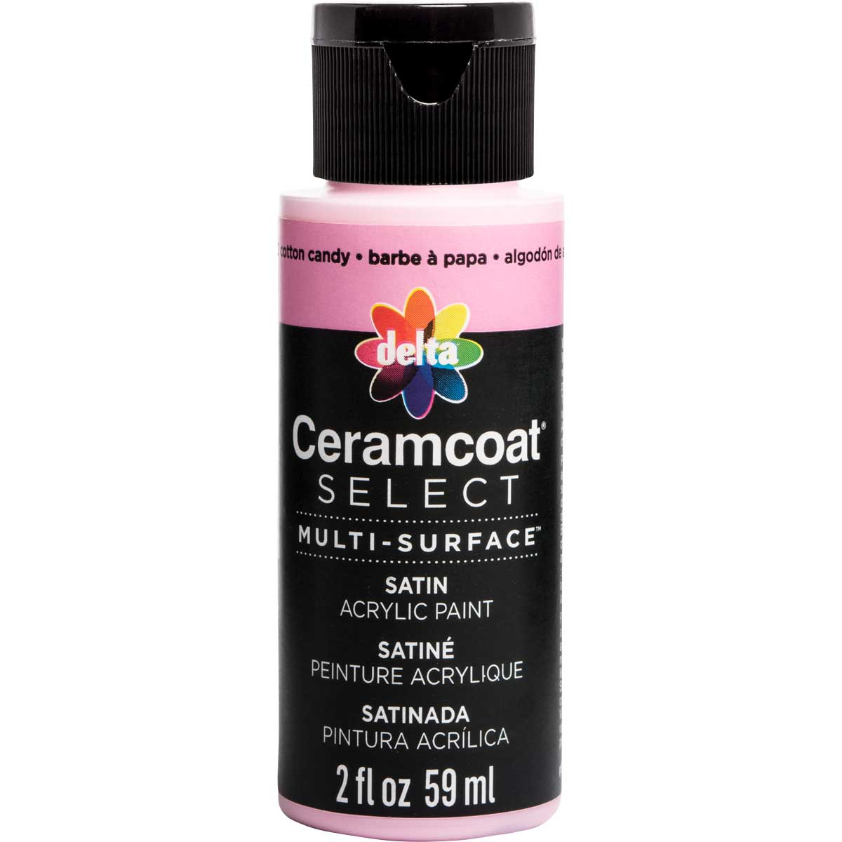 Delta Ceramcoat ® Select Multi-Surface Acrylic Paint - Satin - Cotton Candy, 2 oz.
