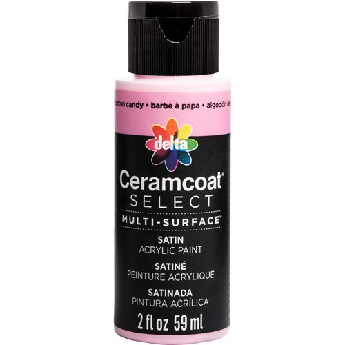Delta Ceramcoat ® Select Multi-Surface Acrylic Paint - Satin - Cotton Candy, 2 oz. - 04002