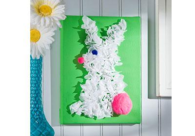 Tissue Paper Rabbit Canvas