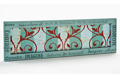 Inspirational Words and Scrollwork with FolkArt Stencils