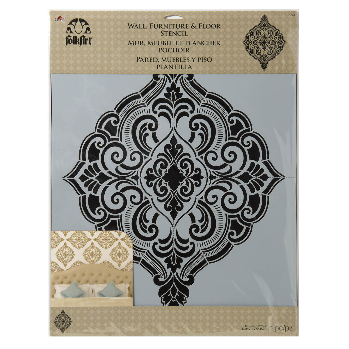 FolkArt ® Home Decor™ Wall Stencils - Ornate Damask