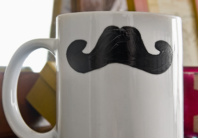 Gifts for Guys- Moustache Coffee Mug