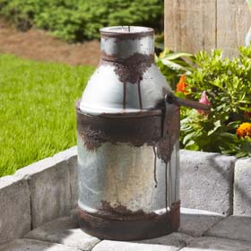 DIY Milk Can Decor