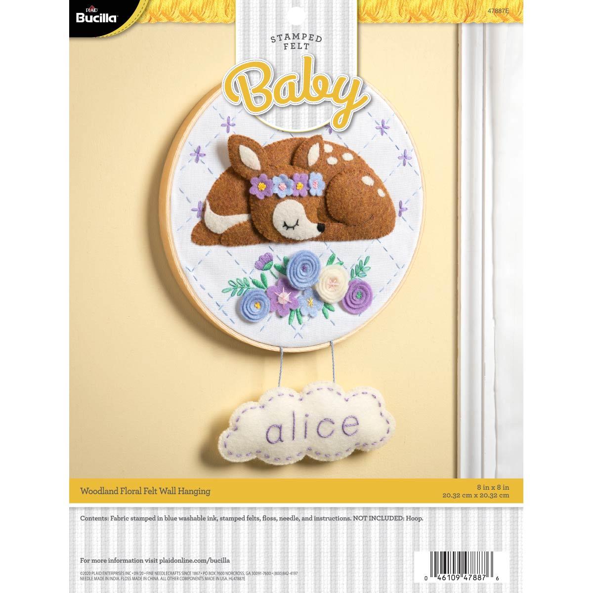 Bucilla ® Baby - Felt - Crib Ensembles - Woodland Floral - Wall Hanging - 47887E