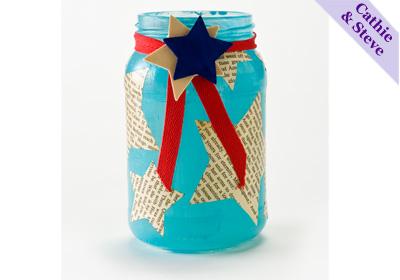 Recycled Jar Candleholder