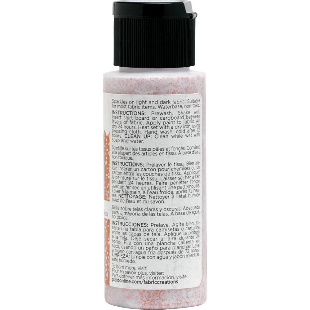 Fabric Creations™ Fantasy Glitter™ Fabric Paint - Impish Orange, 2 oz.