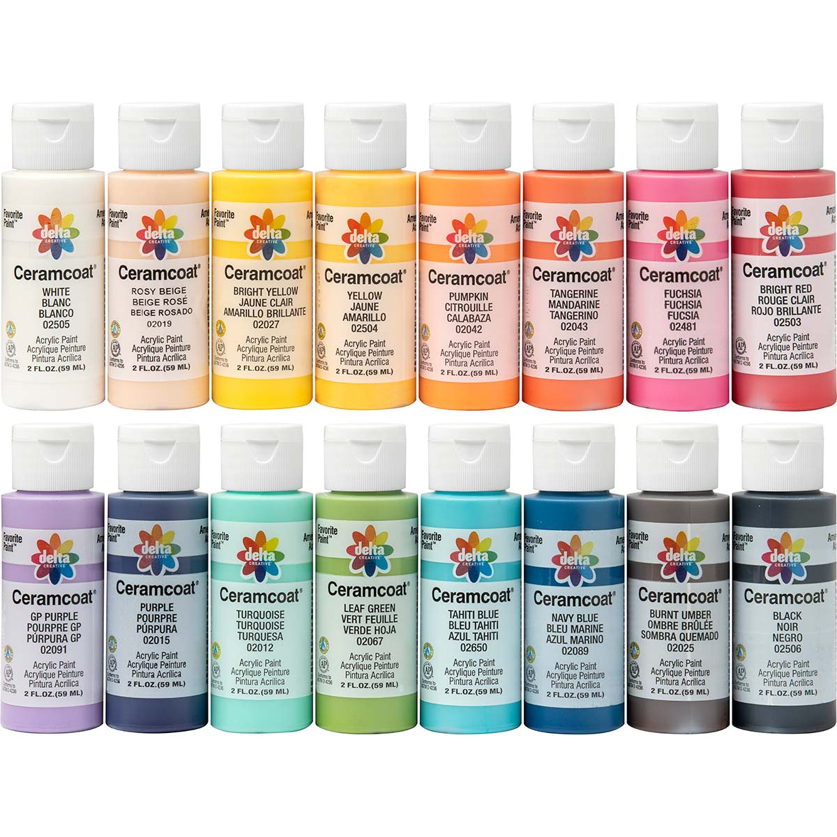 Delta Ceramcoat ® Acrylic Paint 16 Color Set - PROMOADA3