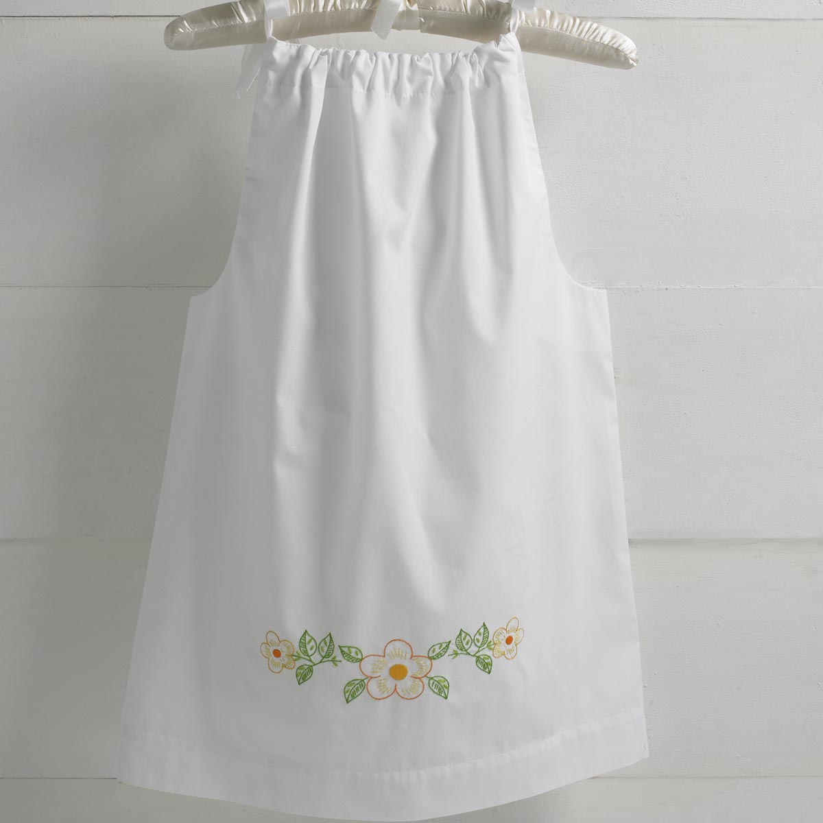 Bucilla ® Stamped Cross Stitch & Embroidery - Pillowcase Dress - Happy Flowers Floral