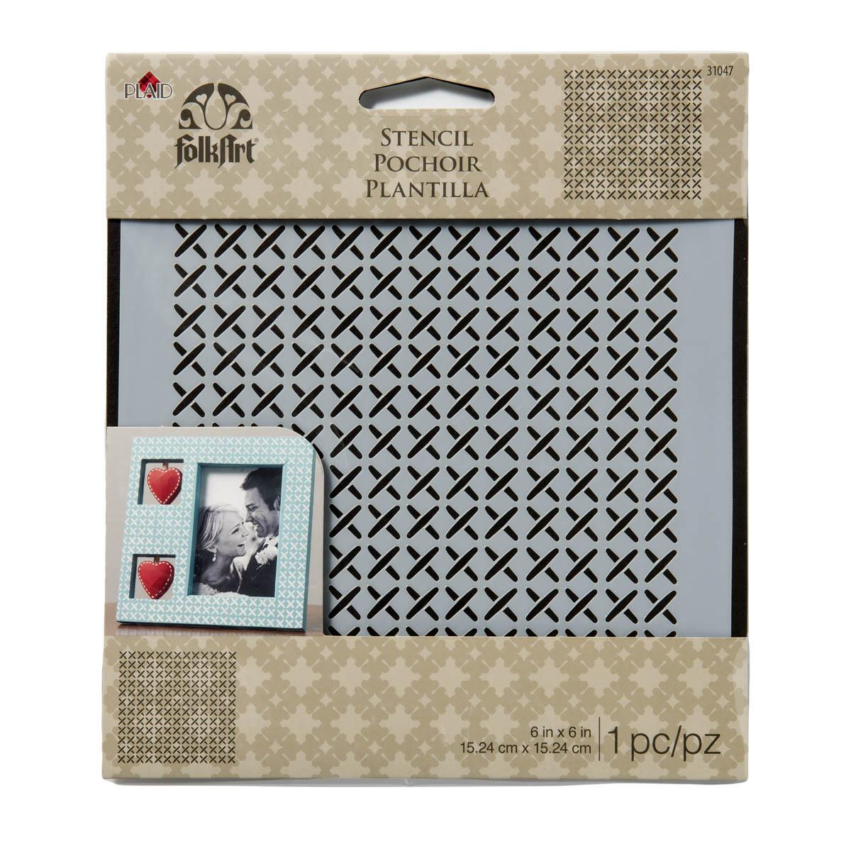 FolkArt ® Painting Stencils - Small - Cross Stitch
