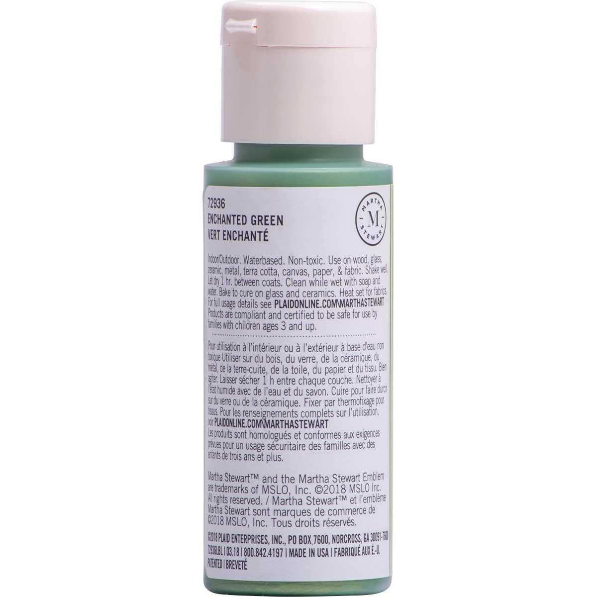 Martha Stewart ® Multi-Surface Pearl Acrylic Craft Paint CPSIA - Enchanted Green, 2 oz. - 72936