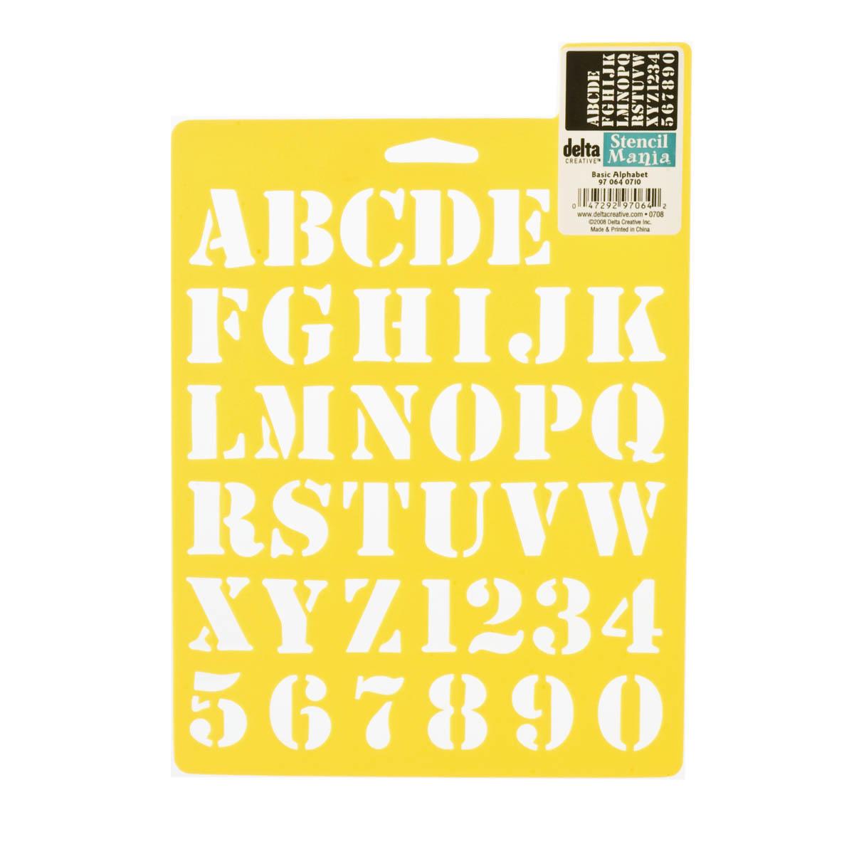 Delta Stencil Mania™ - Alphabet - Basic