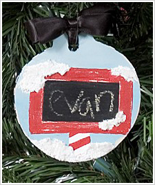North Pole Sign Christmas Ornament
