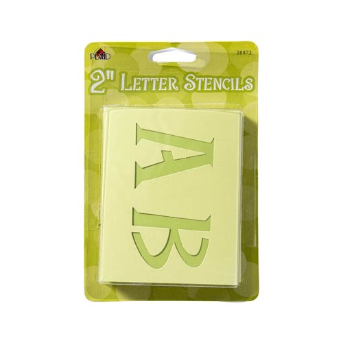 Plaid ® Stencils - Value Packs - Letter Stencils - Genie, 2""
