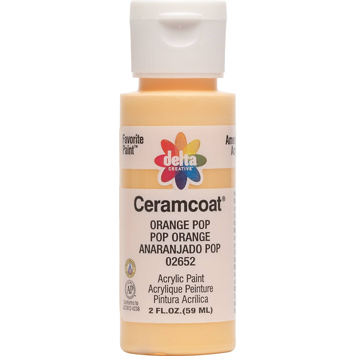 Delta Ceramcoat ® Acrylic Paint - Orange Pop, 2 oz.