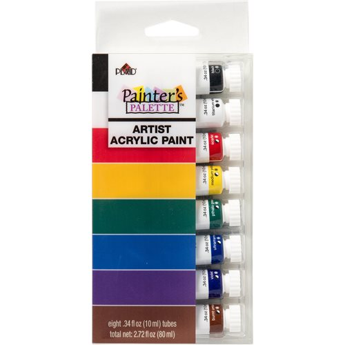 Plaid ® Painter's Palette™ Acrylic Tube Paint Set, 8 pcs.