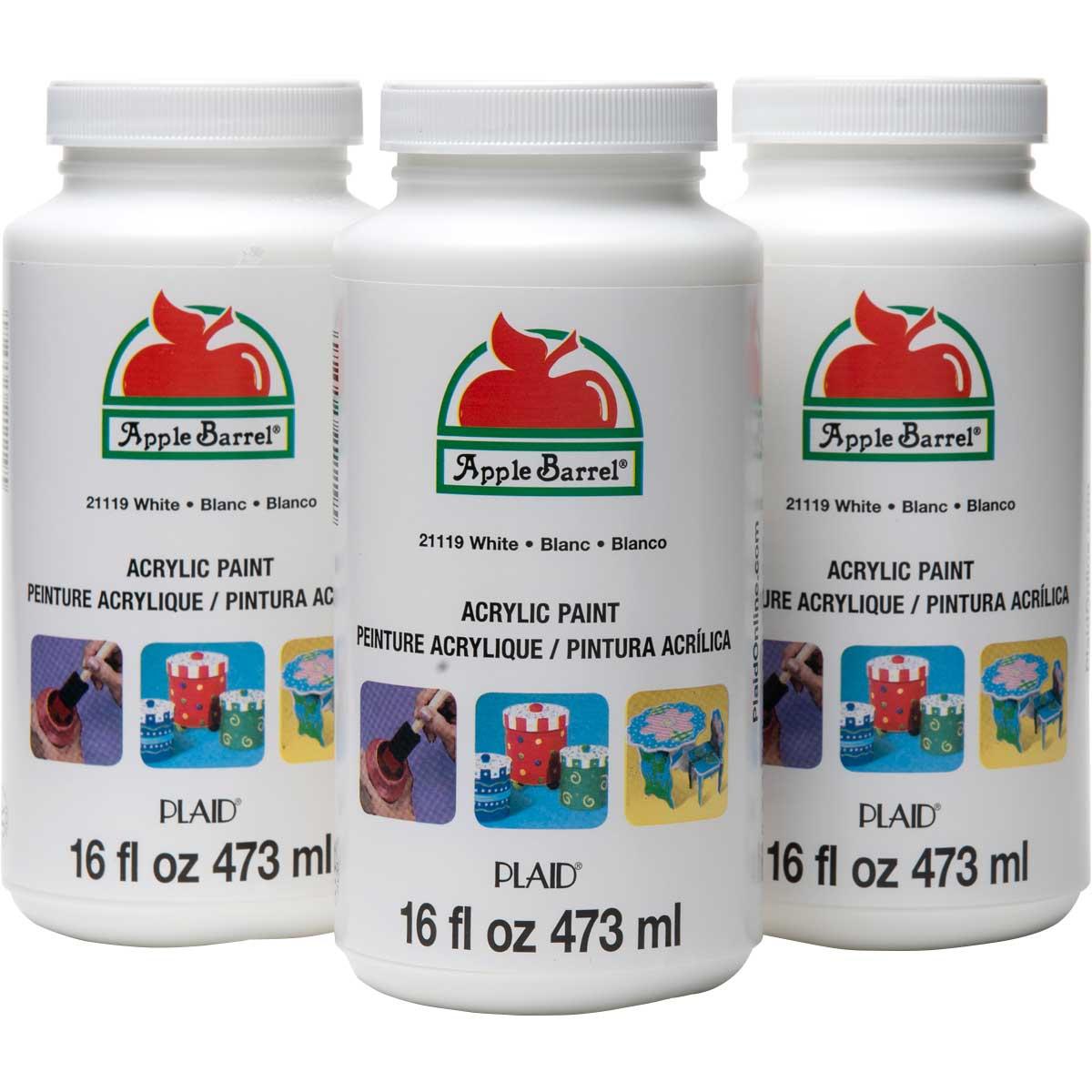 Apple Barrel ® Colors Acrylic Paint Bundle - White, 16 oz.