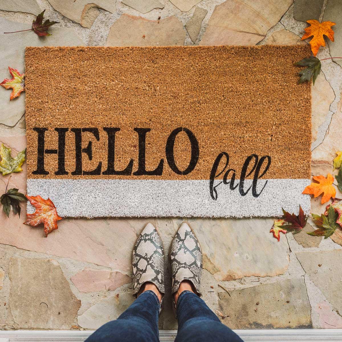 Hello Fall Welcome Mat