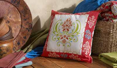 Folkloric Throw Pillow