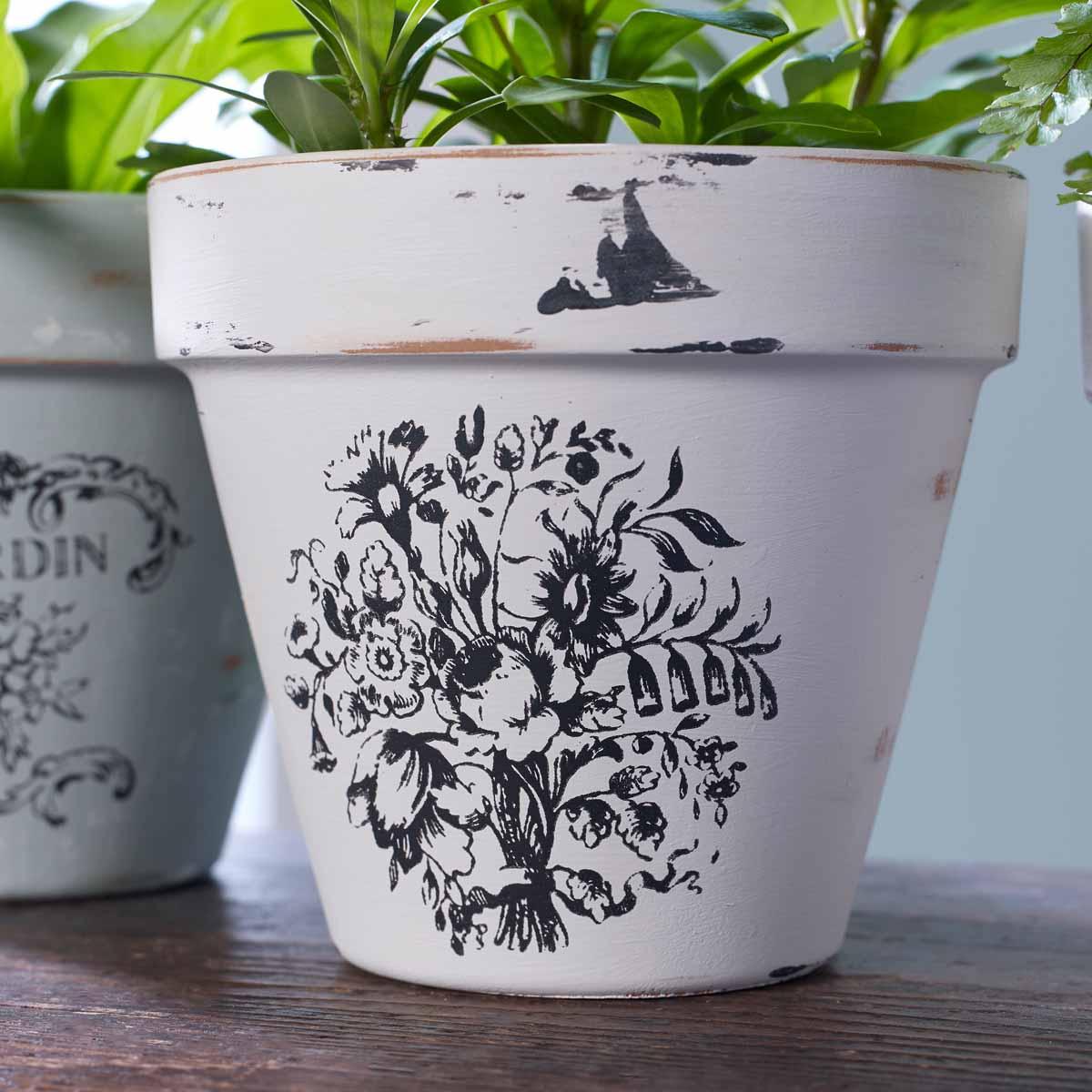 Silkscreen Garden Pots