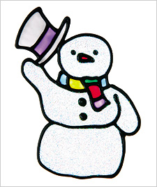 Snowman Window Cling