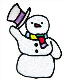 Snowman Window Cling