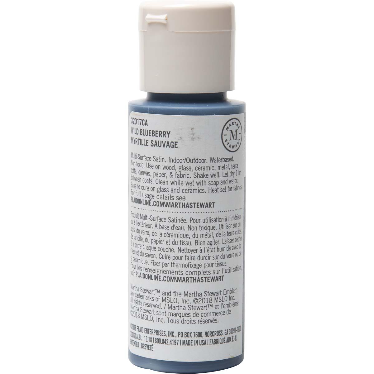 Martha Stewart® 2oz Multi-Surface Satin Acrylic Craft Paint - Wild Blueberry