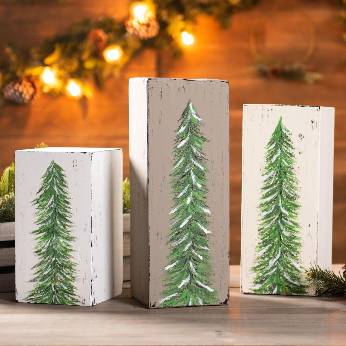 Block Christmas Trees