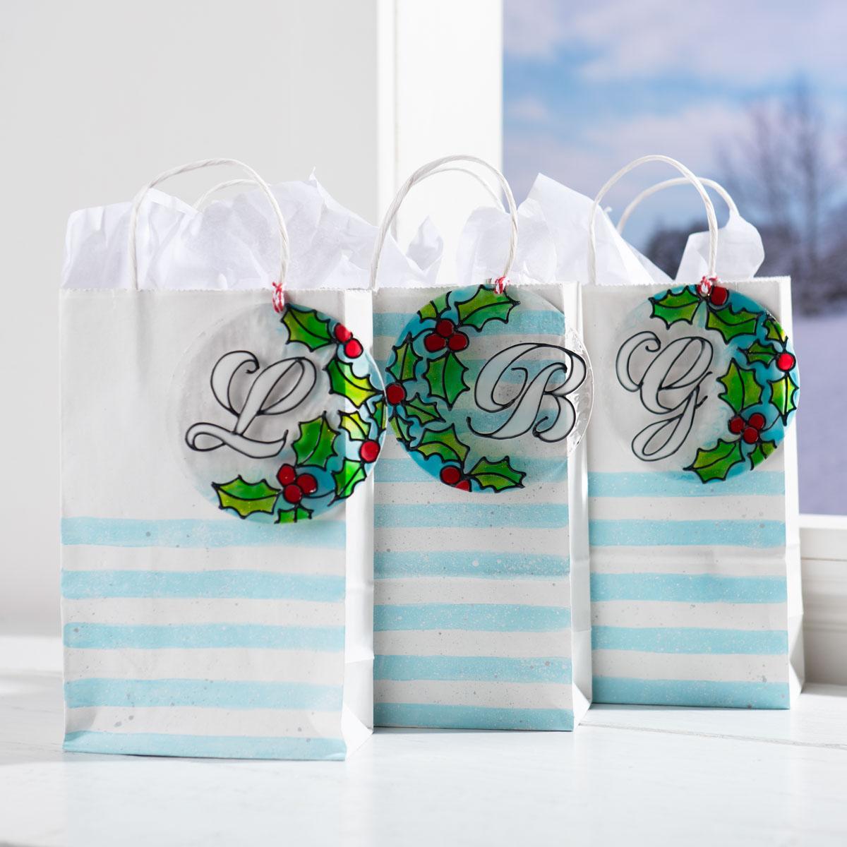 DIY Monogram Christmas Ornament & Gift Topper