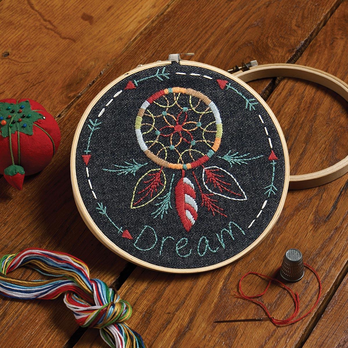 Bucilla ® Stamped Embroidery Handmade Charlotte™ - Denim Dream Catcher