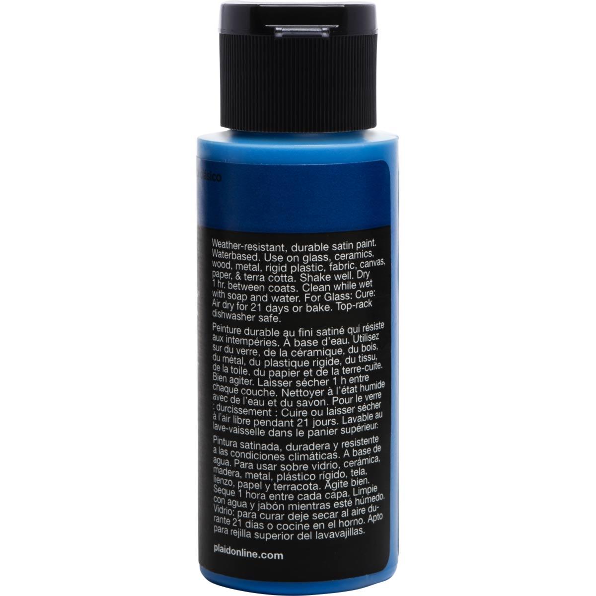 Delta Ceramcoat ® Select Multi-Surface Acrylic Paint - Satin - Classic Blue, 2 oz. - 04025