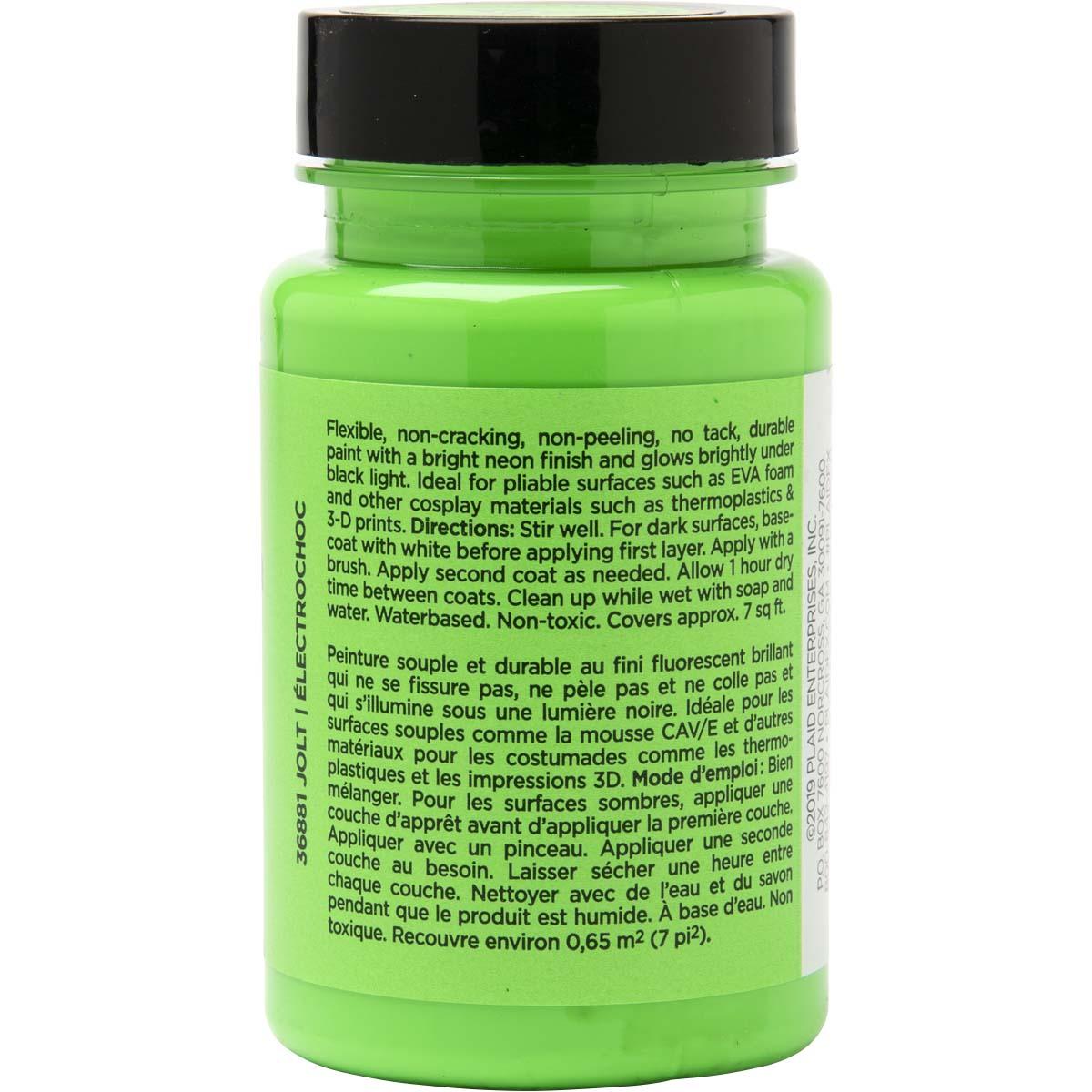 PlaidFX Nuclear Neon Flexible Acrylic Paint - Jolt, 3 oz. - 36881