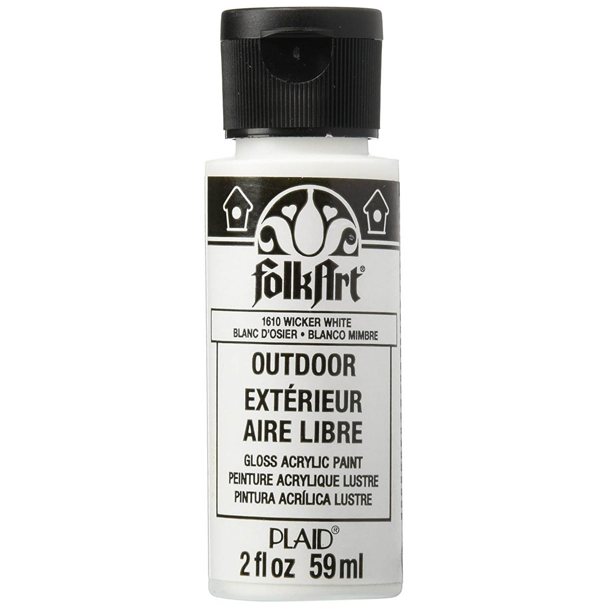 FolkArt ® Outdoor™ Acrylic Colors - Wicker White, 2 oz. - 1610